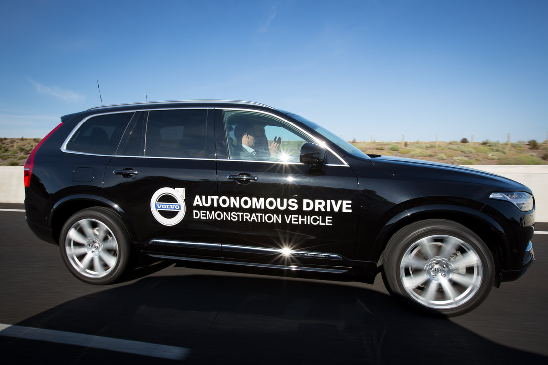 volvo autonomous vehicle car driverless transport